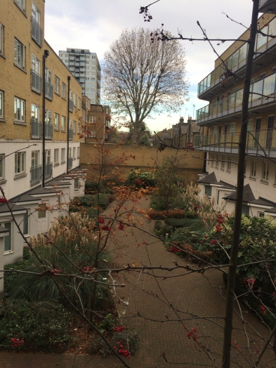 Limehouse apartment courtyard